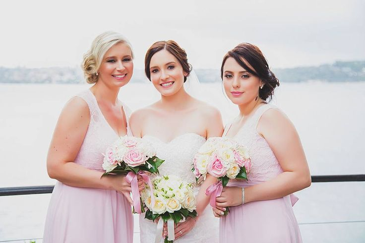Hair & Makeup by me on this stunning bridal party.