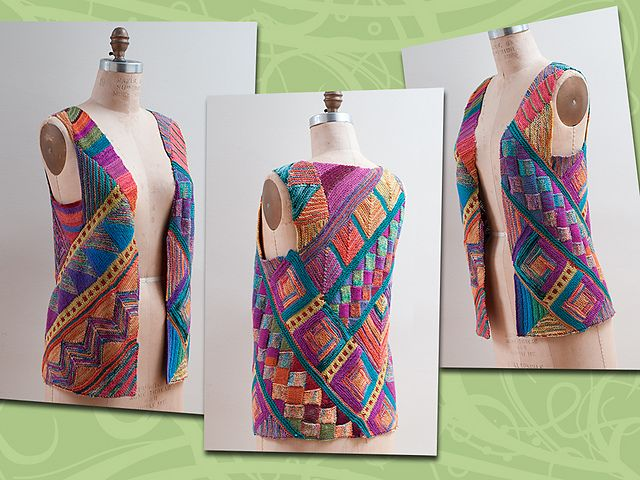 Ravelry: myrawood's Over the Rainbow Cardigan. It is knitting, but great crocheted...