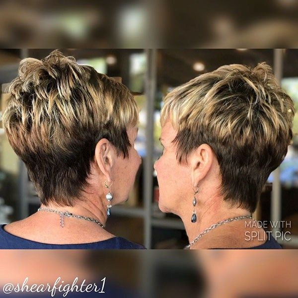 Choppy Layered Pixie Best Short Hairstyles For Older Women In 2019 Older Women Hairstyles Short Hair Styles Pixie Very Short Hair