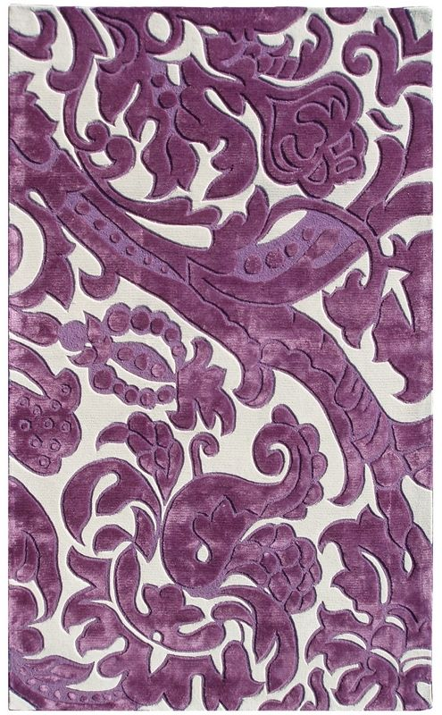 RugStudio presents The Rug Market America Rexford Leoni 44311 Lavender/ivory Hand-Tufted, Good Quality Area Rug