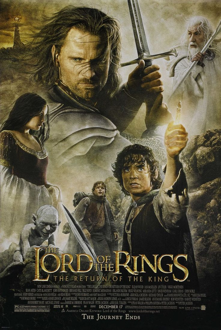 """Lord of the Rings: The Return of the King"" > 2003 > Directed by: Peter Jackson > Fantasy / Epic / Fantasy Adventure / Sword-and-Sorcery / Action / Adventure"
