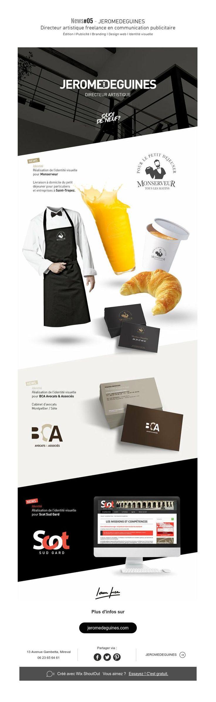 News#05 - JEROMEDEGUINES  Directeur artistique freelance en communication publicitaire Édition I Publicité I BrandingI Design web I Identité visuelle