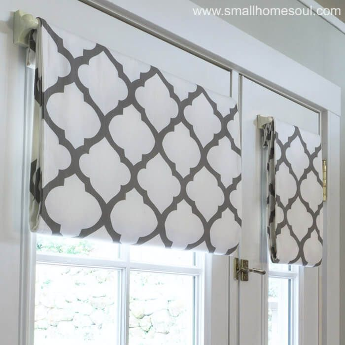 Learn How To Make Your Own Simple French Door Curtains From Pre