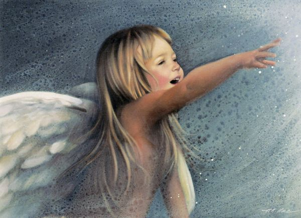 """Angel of Wonder"" by Nancy Noel (American) ~ She looks like my daughter Monica..."