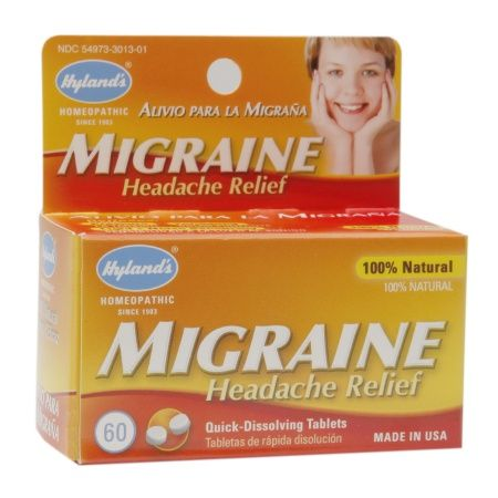 Hyland's Homeopathic Migraine Headache Relief Quick Dissolving Tablets - 60 ea