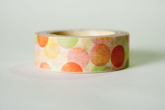 Washi Tape Multicolor Confetti by HexagonInc on Etsy, $3.50