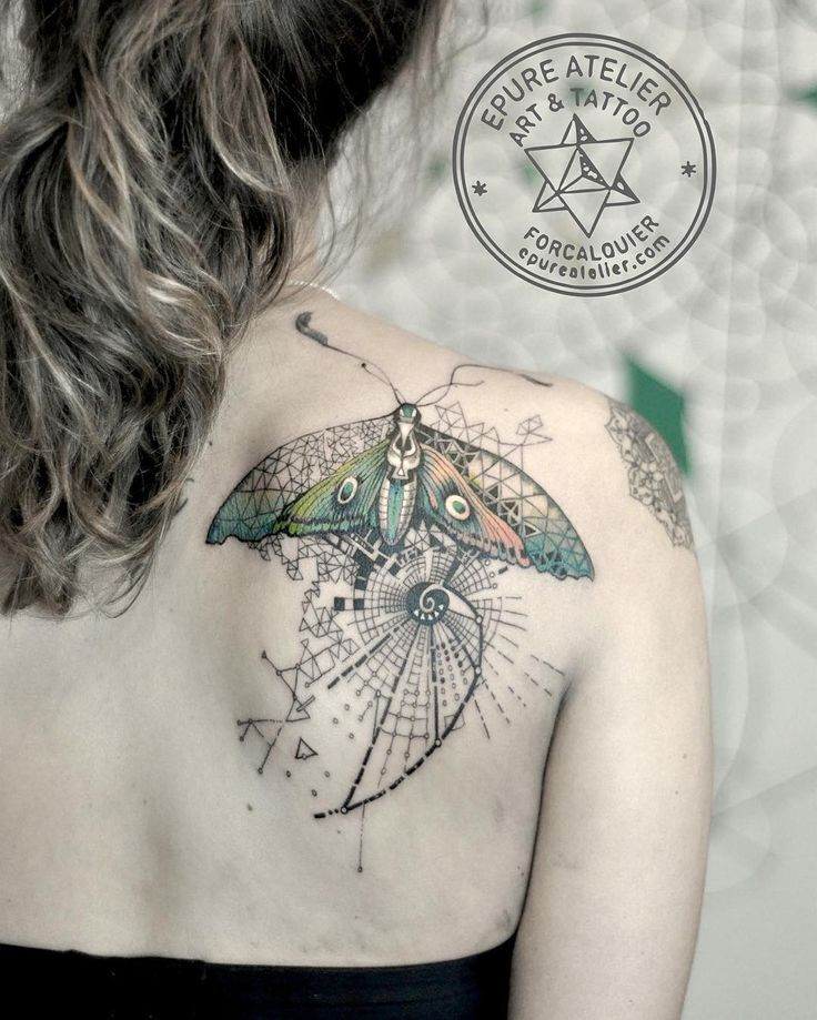 Exquisite Spiritually Inspired Graphic Tattoos by Marie Roura – The Earth Child