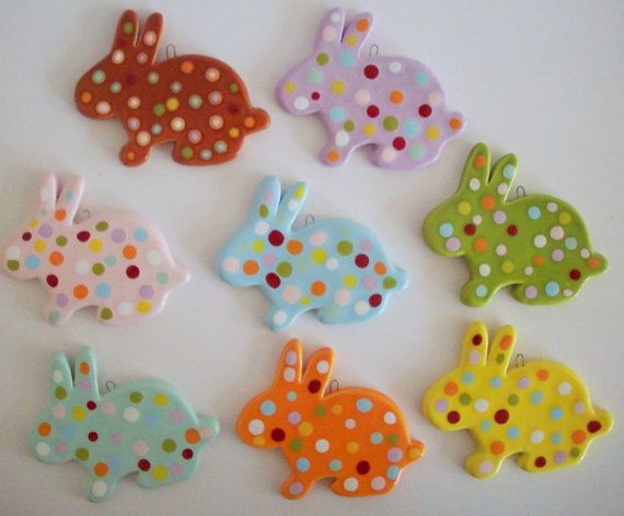 Hand made Easter ornaments by eudoxiahandmade on Etsy, €6.18