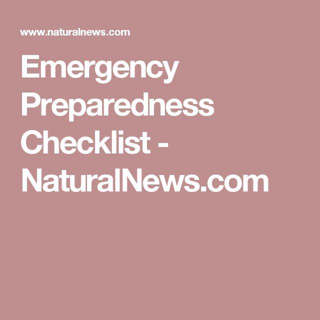 Emergency Preparedness Checklist - NaturalNews.com
