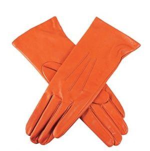 Orange gloves £89, dents.co.uk