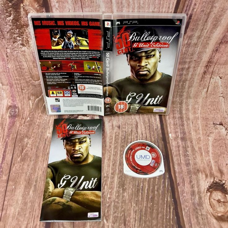 50 Cent Bulletproof G Unit Edition sony PSP Video Game complete Present Gift 🎁