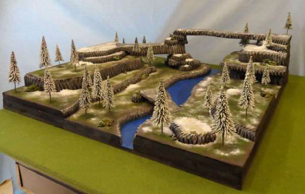 3x3 Snow Covered Mountain Wargaming Table From Trolls Den