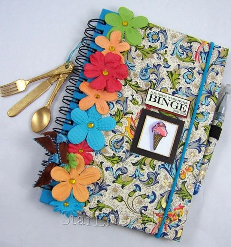 Use Handmade Paper To Decorate Notebook