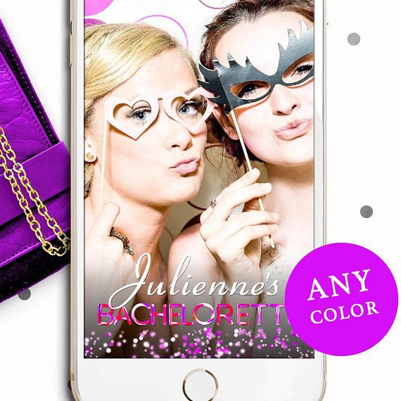Pink Neon Bachelorette Party Geofilter-Colorful Neon Filter