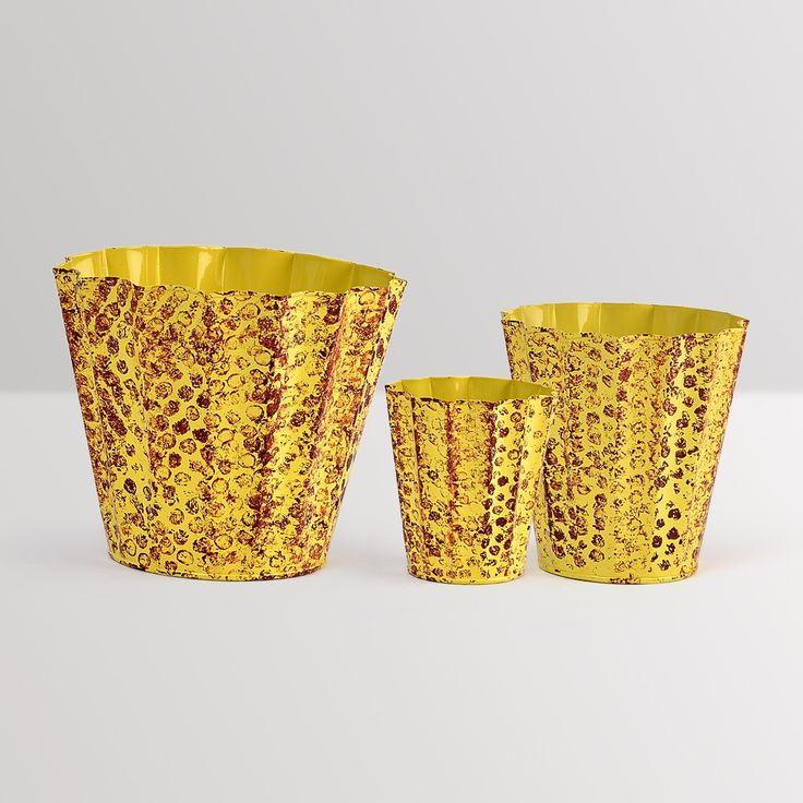 Flower bucket plnaters - set of 3 #planters #plant #garden #flowers #shazliving #pinit #pinterest #leaves #gardening Shop at: https://www.shazliving.com/