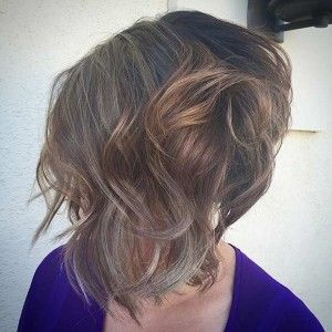 Curly Stacked Inverted Bob Haircut