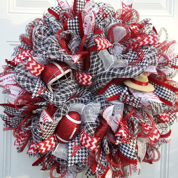 Alabama Football Wreath by StudioWhimsybyBabs on Etsy