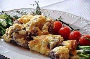 Мясо по французки с картофелем.