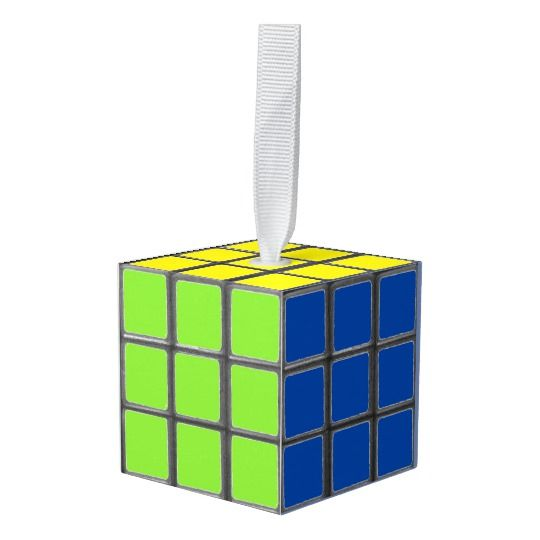 Vintage Retro 80's 1980s  Cube Ornament  #retro #vintage #cube #rubik #colors  #80s