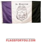 3' x 5' US Made, High Wind Policeman Mourning Flag