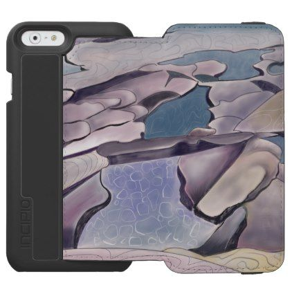 Rock platform and swimming pool iPhone 6/6s wallet case - summer gifts season diy template ideas