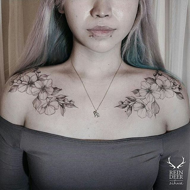 Best 25 chest tattoos for women ideas on pinterest for Pretty breast tattoos