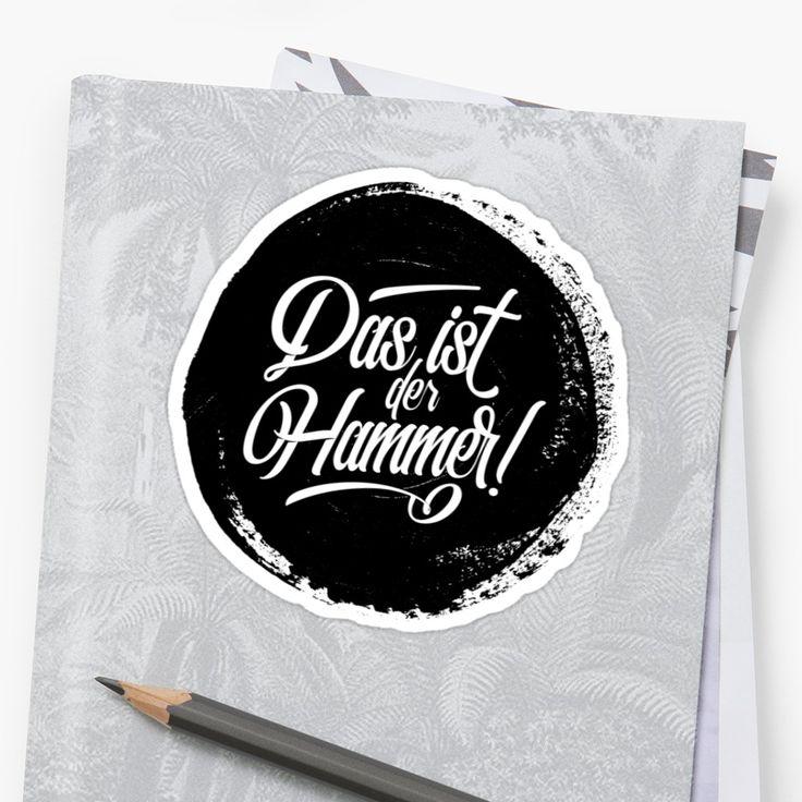 German deutschland die cut stickers available in different