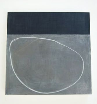 *Agnes Martin *Proportion of rectangular strip to circle and background *Something very grounding/anchoring about this painting