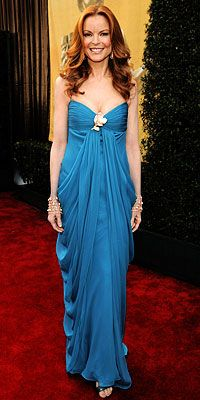 Marcia Cross, SAG Awards, Fashion Trends - The brooch is back this year!  Check it out!  In Style and trending!