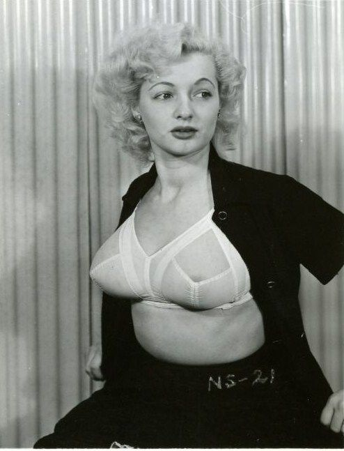 Vintage retro busty bra models