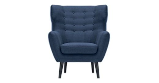 Kubrick Wing Back Chair, Scuba Blue | made.com