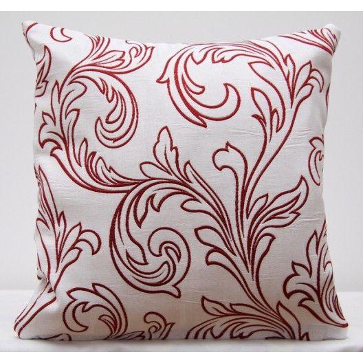 Poťah na vankúšik v bielej farbe s ornamentom