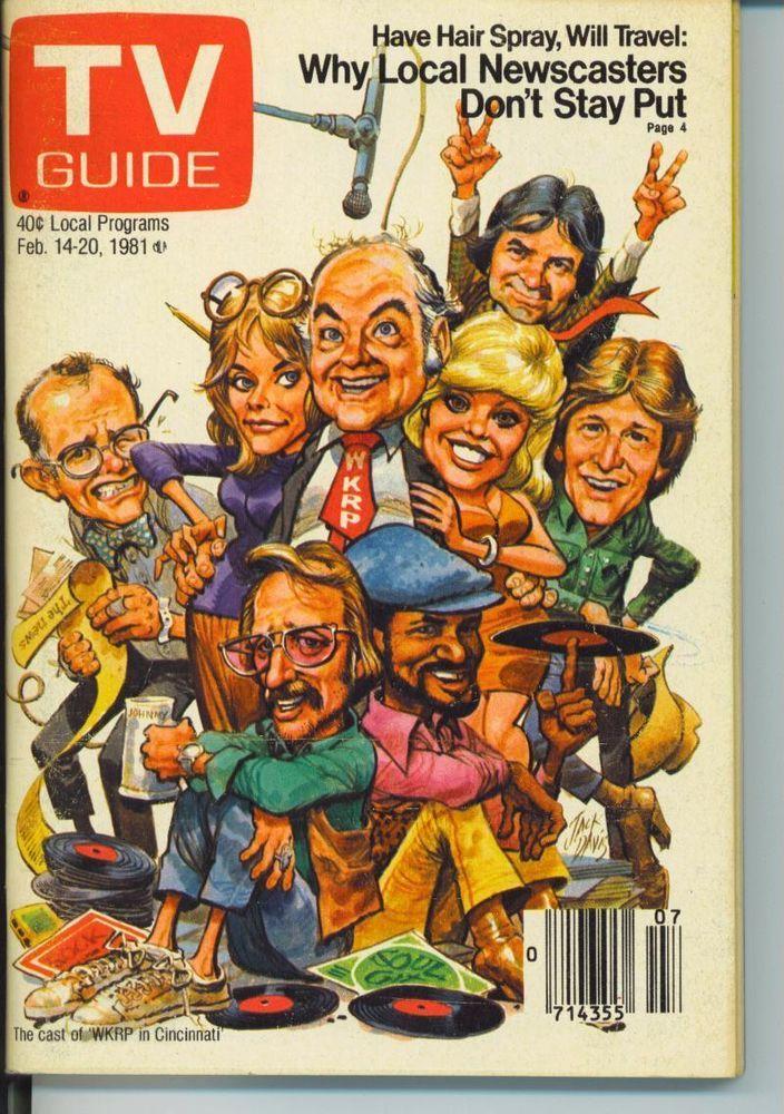 TV GUIDE 2-14-1981 WKRP IN CINCINNATI~DEAN BUTLER~TALK SHOWS~CHICAGO EDITION