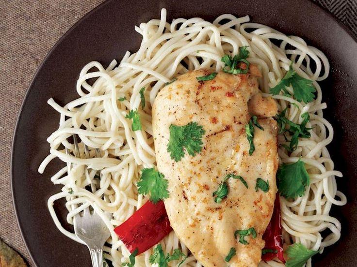 Kayısı soslu ızgara tavuk etli noodle