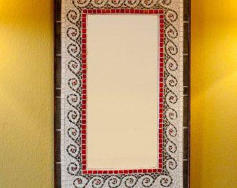 espejo mosaico por en etsy
