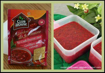 BEST and FAVOURITE Raspberry Freezer No-Cook Jam! Keeps amazing colour, less sugar and quick and easy!