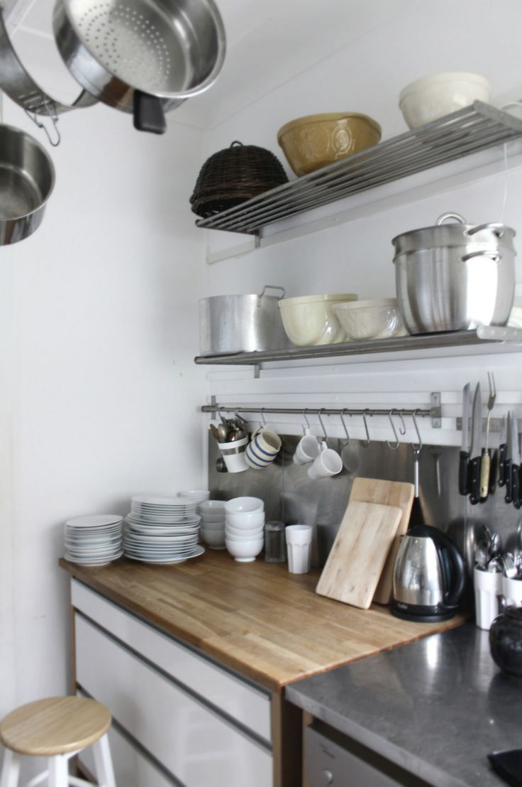 Tiny Cottage Kitchens, Shelves, Storage, Jars & Ikea - Beach Decor Blog, Coastal Blog, Coastal Decorating