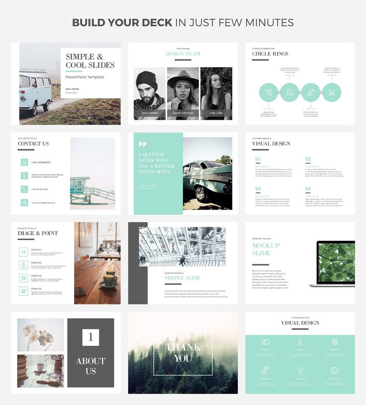 Simple & Cool PowerPoint Template by Wipavee on @creativemarket #ad