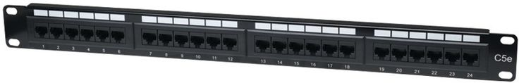 Intellinet - CAT-5E Patch Panel, 24 Port, UTP, 1U