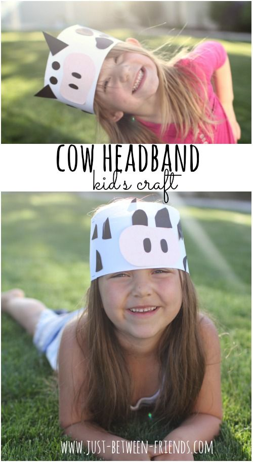 Just Between Friends: Cow Headband | Kid's Craft