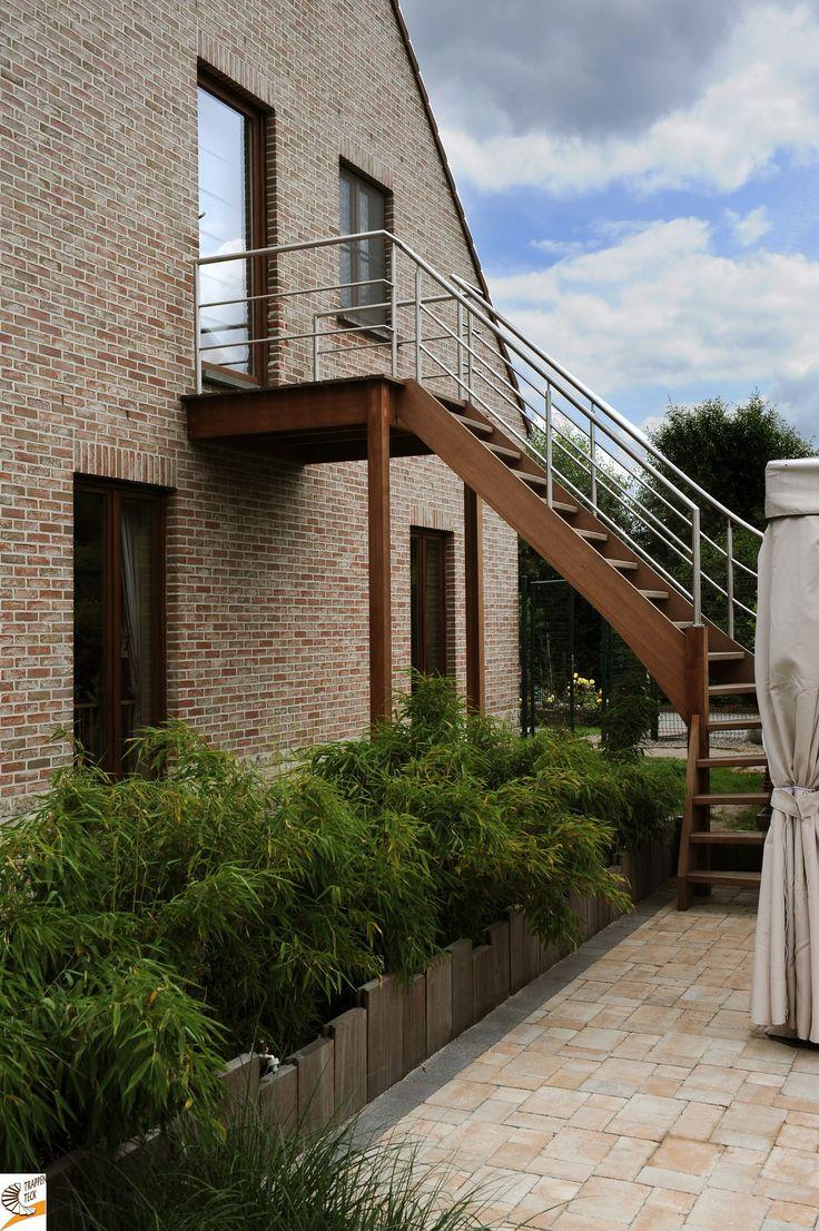 25 beste idee n over buiten trappen op pinterest buiten for Trap buiten hout