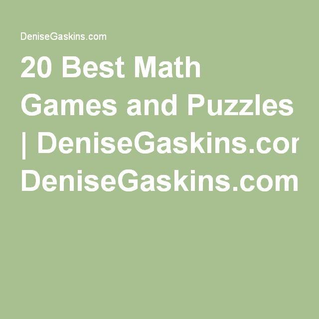 20 Best Math Games andPuzzles | DeniseGaskins.com