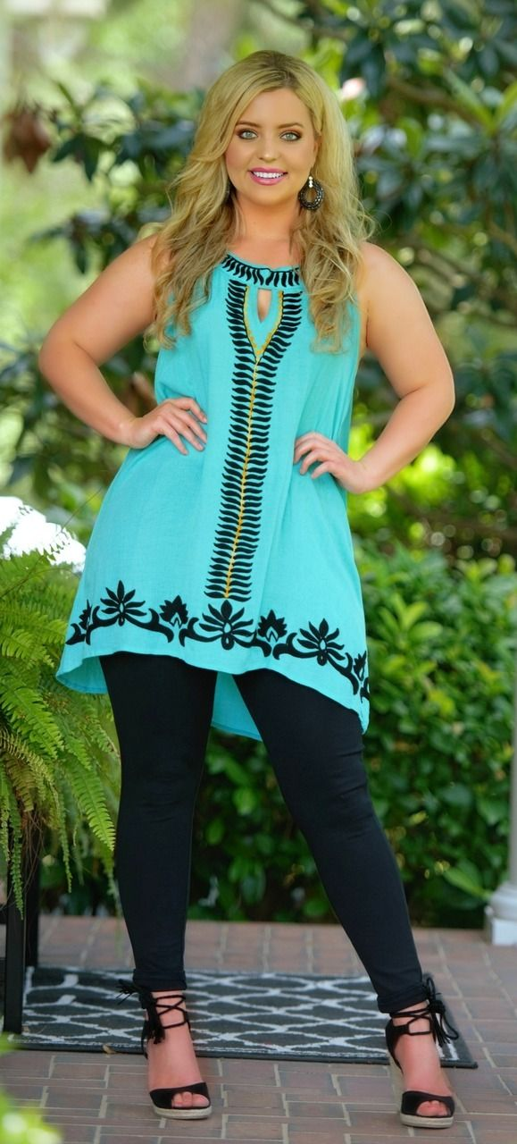 All Eyes On You Tunic - Teal - Perfectly Priscilla Boutique
