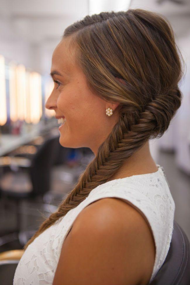 Super cute side braid #hair #fishtail #braids