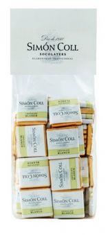 Simon Coll 5g. Minitablete de ciocolata alba (100/bag) FARA GLUTEN
