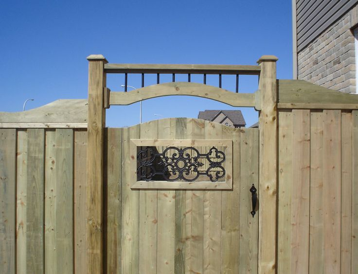 Unique Wood Fence Designs | Wood Fence Insert