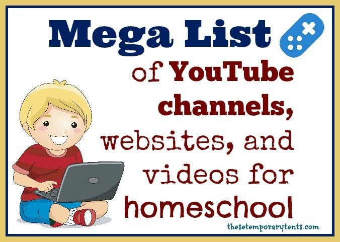 Mega List of YouTube channels and videos for homeschool...one of the BEST resource lists I've seen.