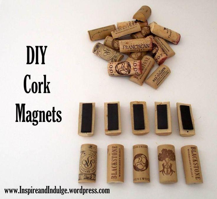 Home Decor : DIY Cork Magnets