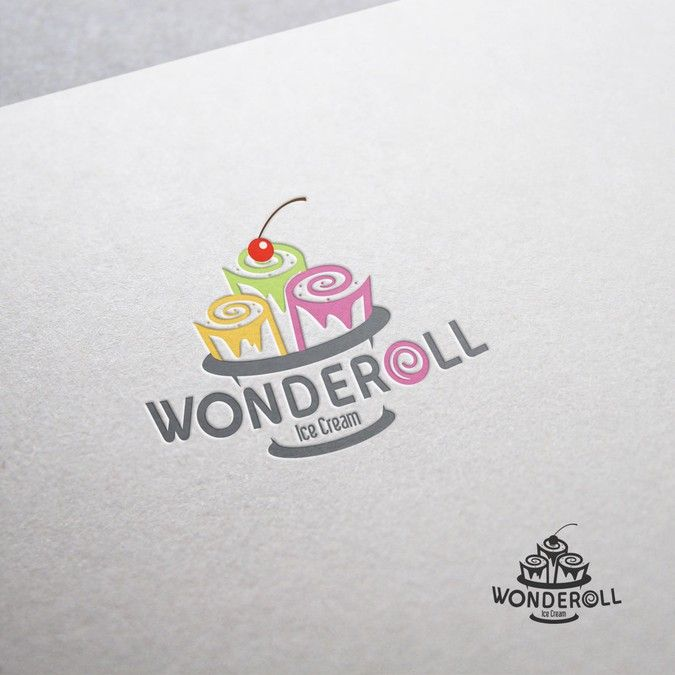 Freelance Work Projects Design a fun, memorable logo for Wonderoll Ice Cream by Rizabigs