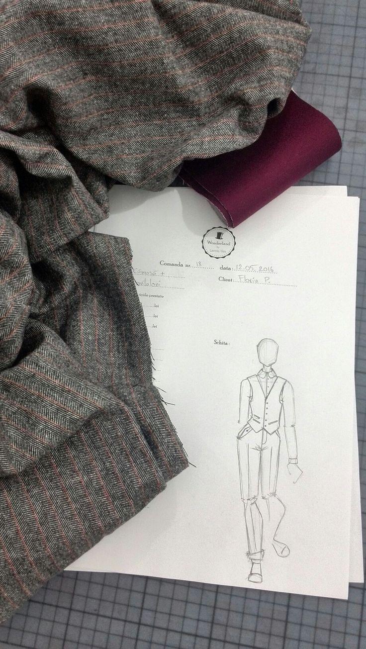 New order, tweed pants and wool vest